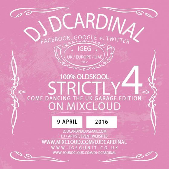 Strictly Come Dancing 4 - UK Garage Edition by DJ Remixkid DCardinal